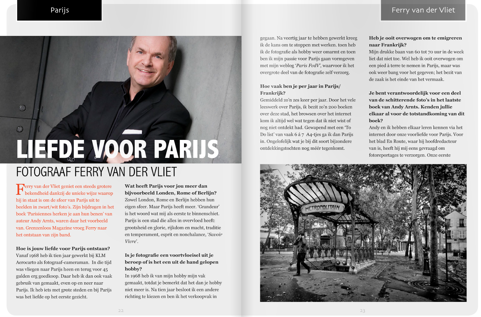 INTERVIEW in Grenzeloos Magazine