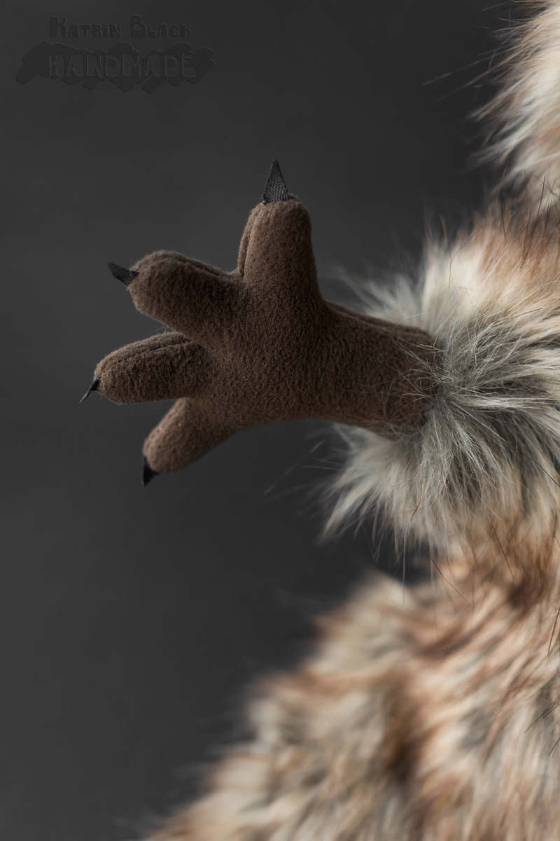 Игрушка эксклюзивная - енот из меха. Ручной работы. Handmade.