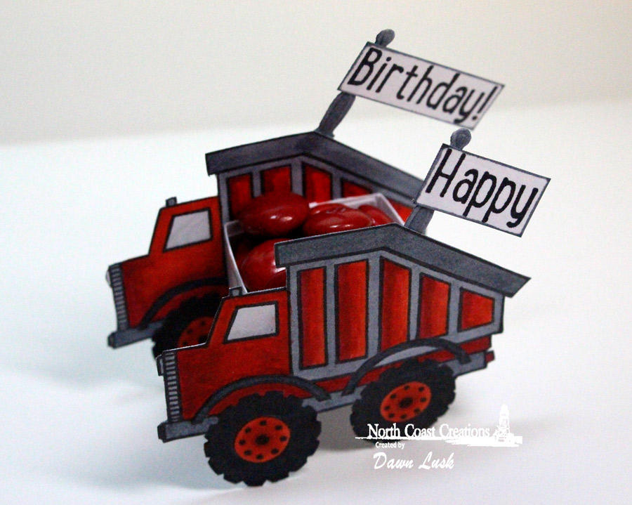 Stamps - North Coast Creations Dump Truck Birthday, Our Daily Bread Designs Custom Matting Circles Dies