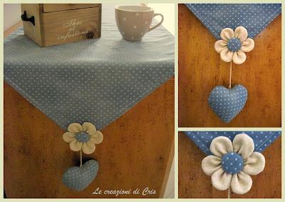 Le creazioni di cris di tutto un p un fiore - Runner per tavolo ...