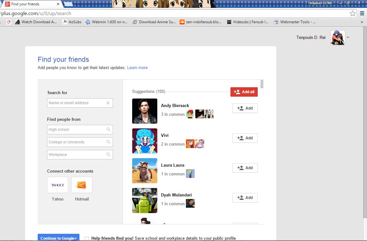 cara menambah banyak teman di google+