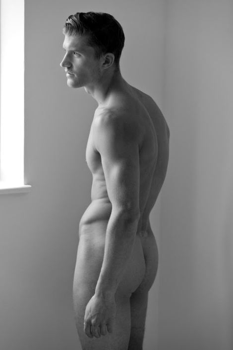 Deaf footballer Jamie Clarke naked portrait