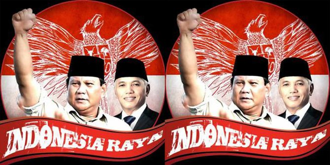 Prabowo - Hatta Rajasa Resmi Deklarasikan Capres dan Cawapresnya di Rumah Polonia