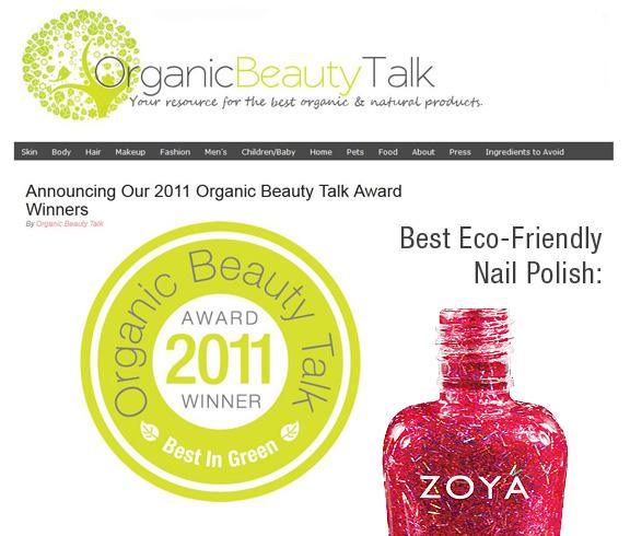 Zoya Nail Polish Wins Organic Beauty Award