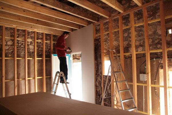 construction salle de r p tition rock isolant et placo c 39 est parti. Black Bedroom Furniture Sets. Home Design Ideas