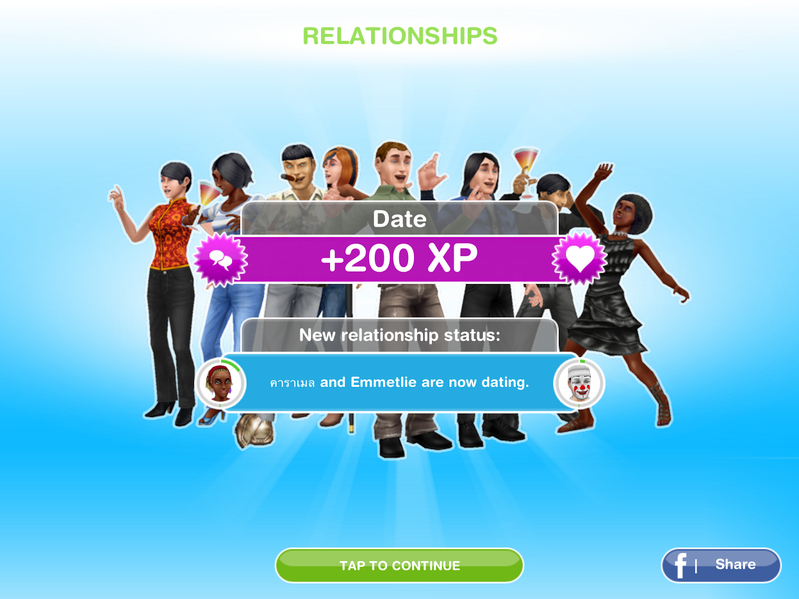 How long does it take to form a dating relationship in sims freeplay