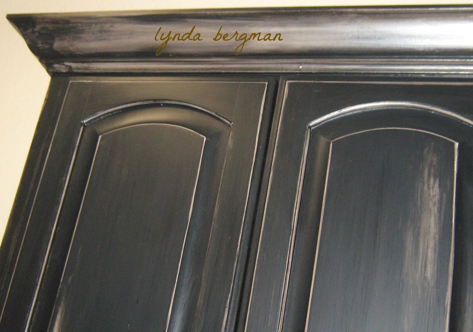Painting More Black Distressed Cabinets For Lori S Home