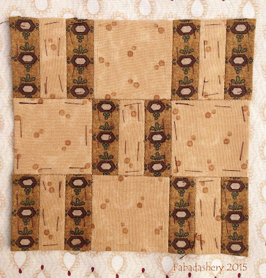 Dear Jane Quilt - Block M12 Hopscotch