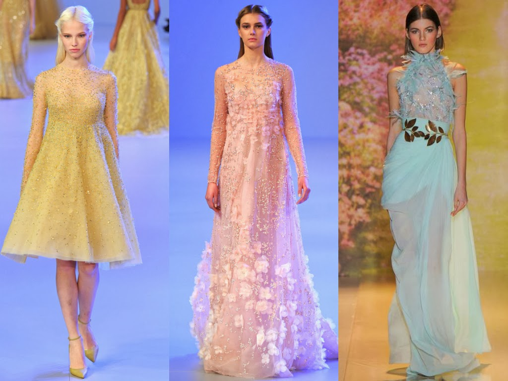elie saab and zuhair murad spring 2014 romantic gowns