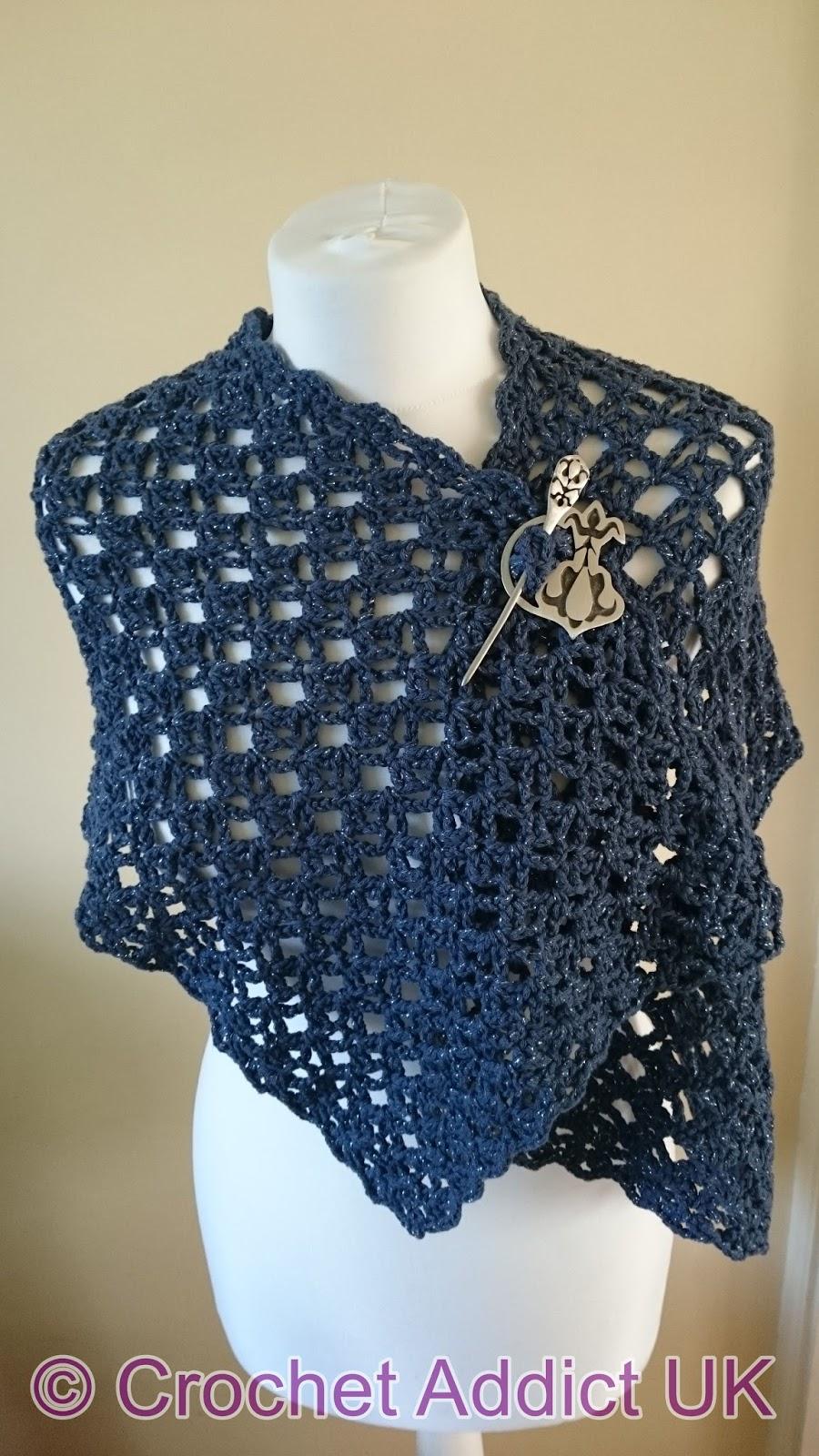 Flash of Evening Chill Shawl ~ Free Crochet Pattern ~ Crochet Addict UK