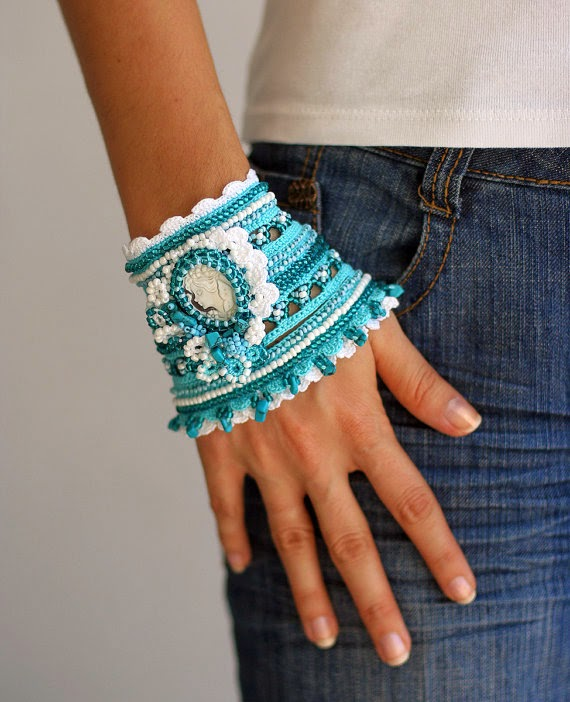 Irish crochet &: Манжеты-украшения