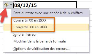 Convertir texte en date