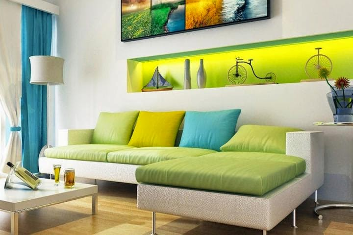 Sala De Estar Com Poltrona Amarela ~ Sala De Estar Amarela Construindo minha casa clean ambientes com bege