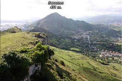 Serantes visto de la cima de Punta Lucero