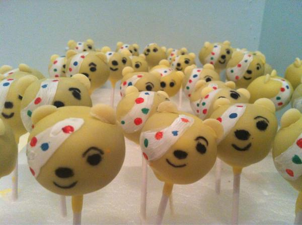Pudsey Cake Pops