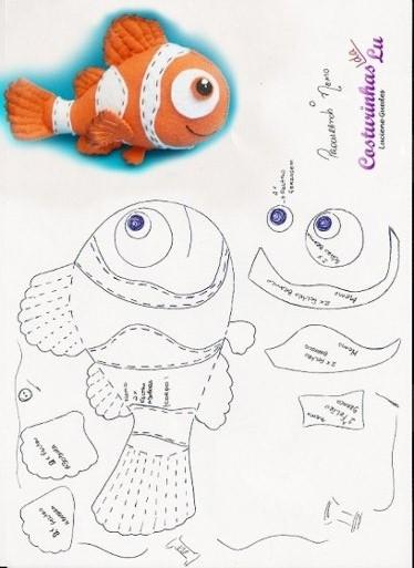 Las Chorradikas De Laury Patron Pez Nemo E Fieltro - Pez-de-fieltro