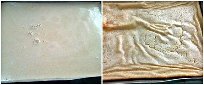 Preparación de la quesada sin azúcar