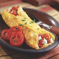 Weight Loss Recipes : Turkey Bacon Omelet