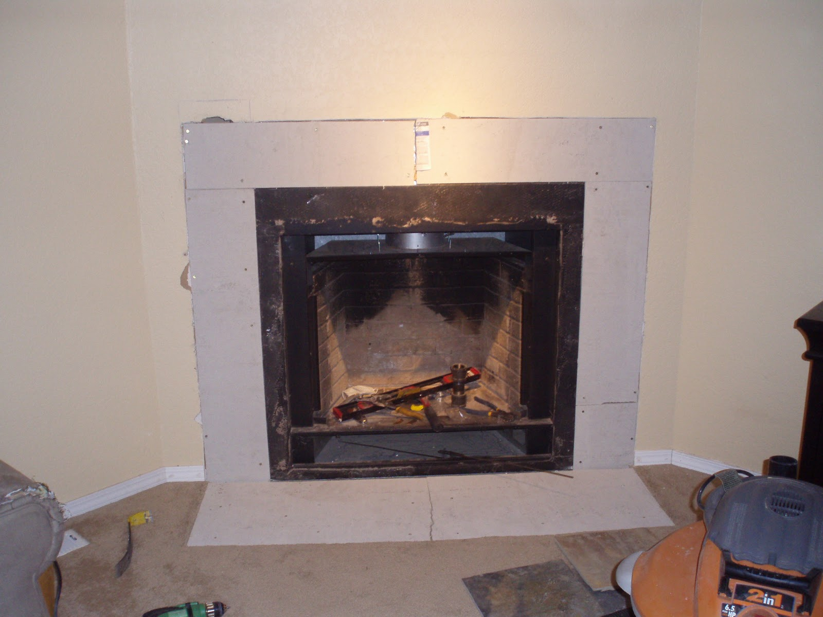 the after party and a fireplace before after meadow lake road