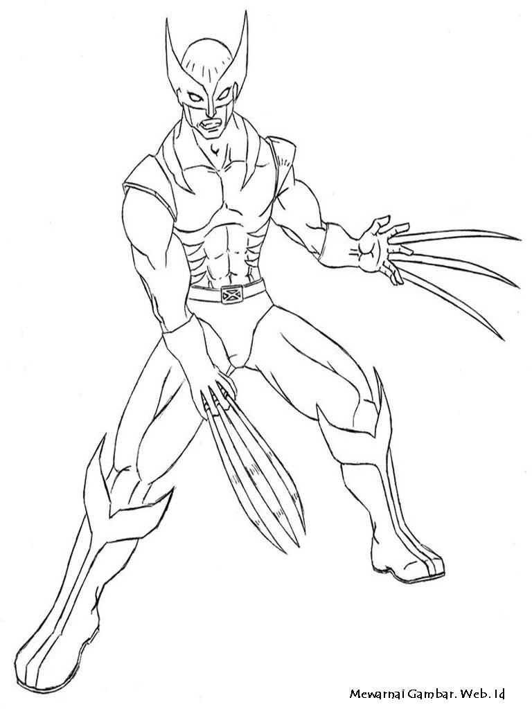 Gambar Mewarnai Wolverine Diwarnai Bima Rebanas Apps Directories Kartun