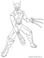 Gambar Wolverine Untuk Diwarnai