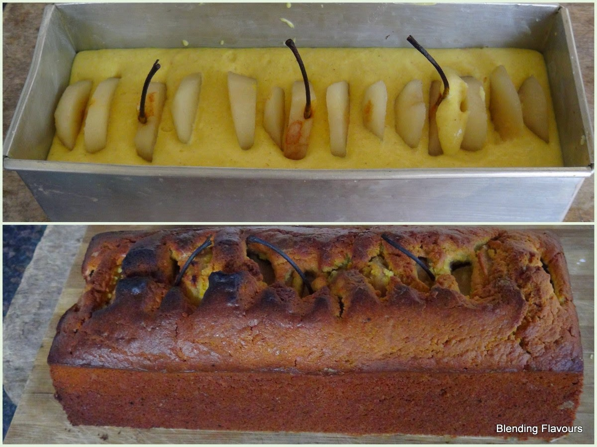 Spiced pear loaf with white chocolate