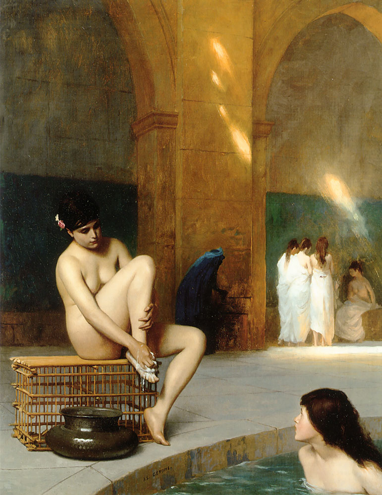 gérôme bath painting