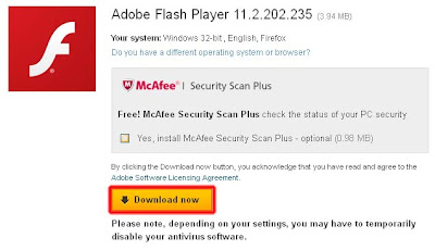 Tahap 1 Cara Install Adobe Flash Player