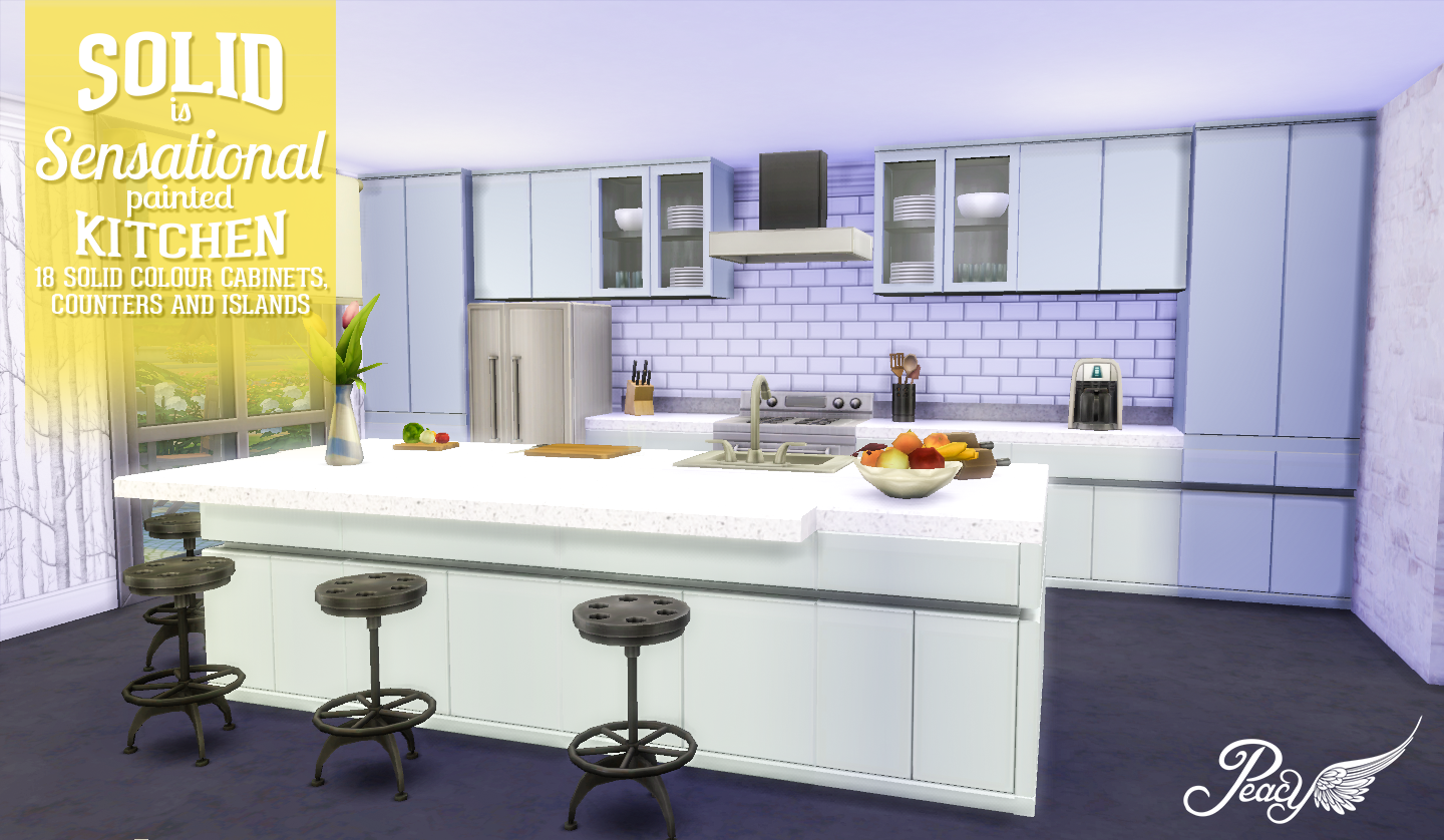 My sims 4 blog solid is sensational painted kitchen by for Kitchen ideas sims 4