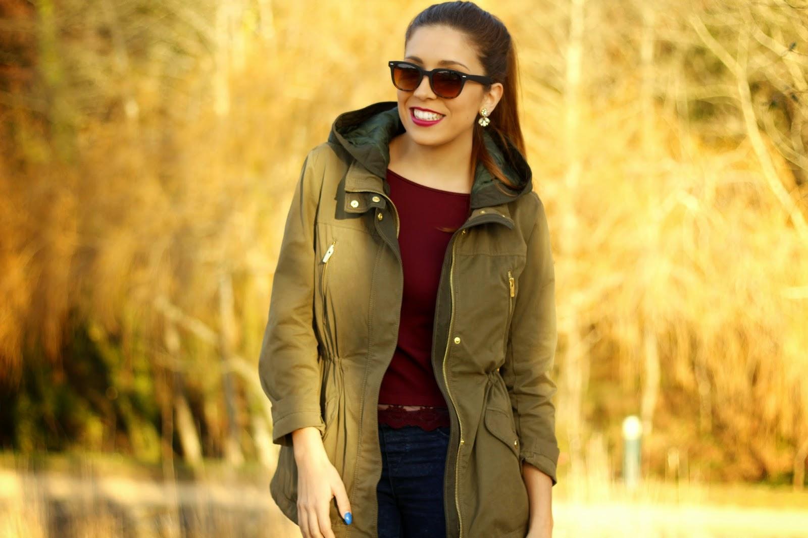 Outfit look caqui verde dourado casual