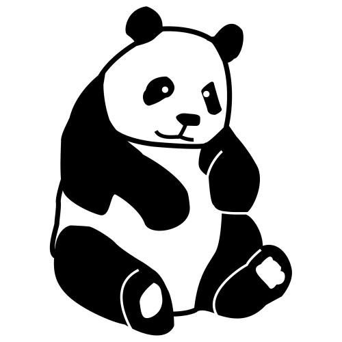 El oso panda dibujos animados - Imagui