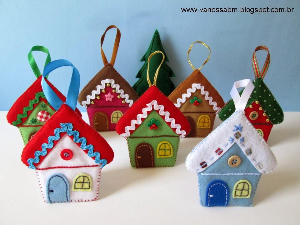 Vanessa biali enfeites em feltro para rvore de natal for Ornamentacion para navidad