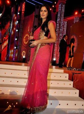 Katrina kaif in pink sari