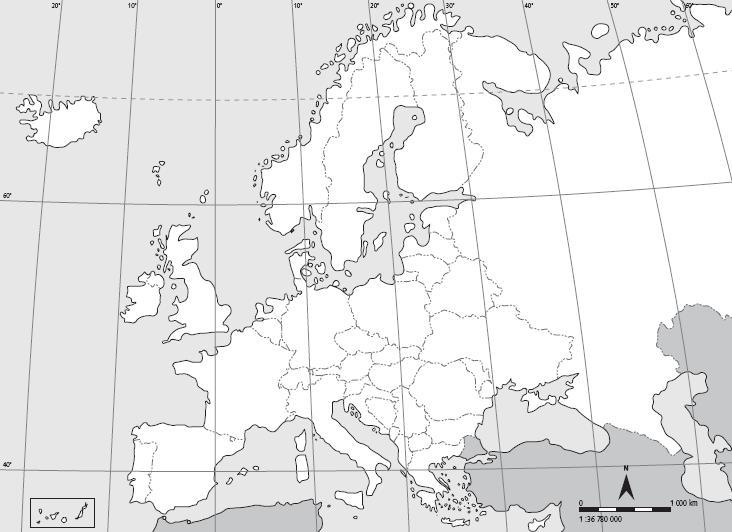 Mapa politico de europa en blanco para imprimir  Imagui