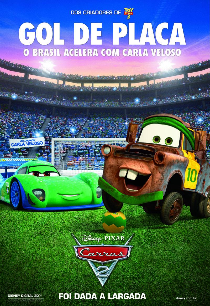 Carros2 poster Brasil