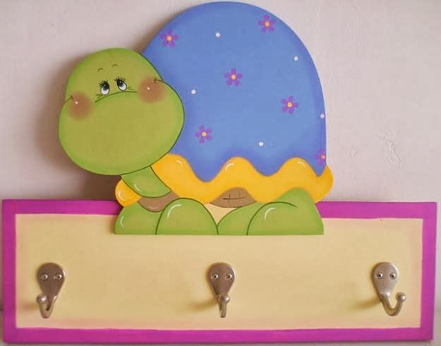 Percheros infantiles perchero tortuguita for Perchero pared infantil