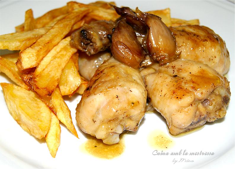 Muslitos de pollo al ajillo recetas de muslitos de pollo - Muslitos de pollo ...