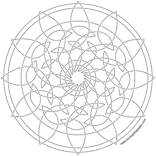 knot embroidery version- versions available to color as well