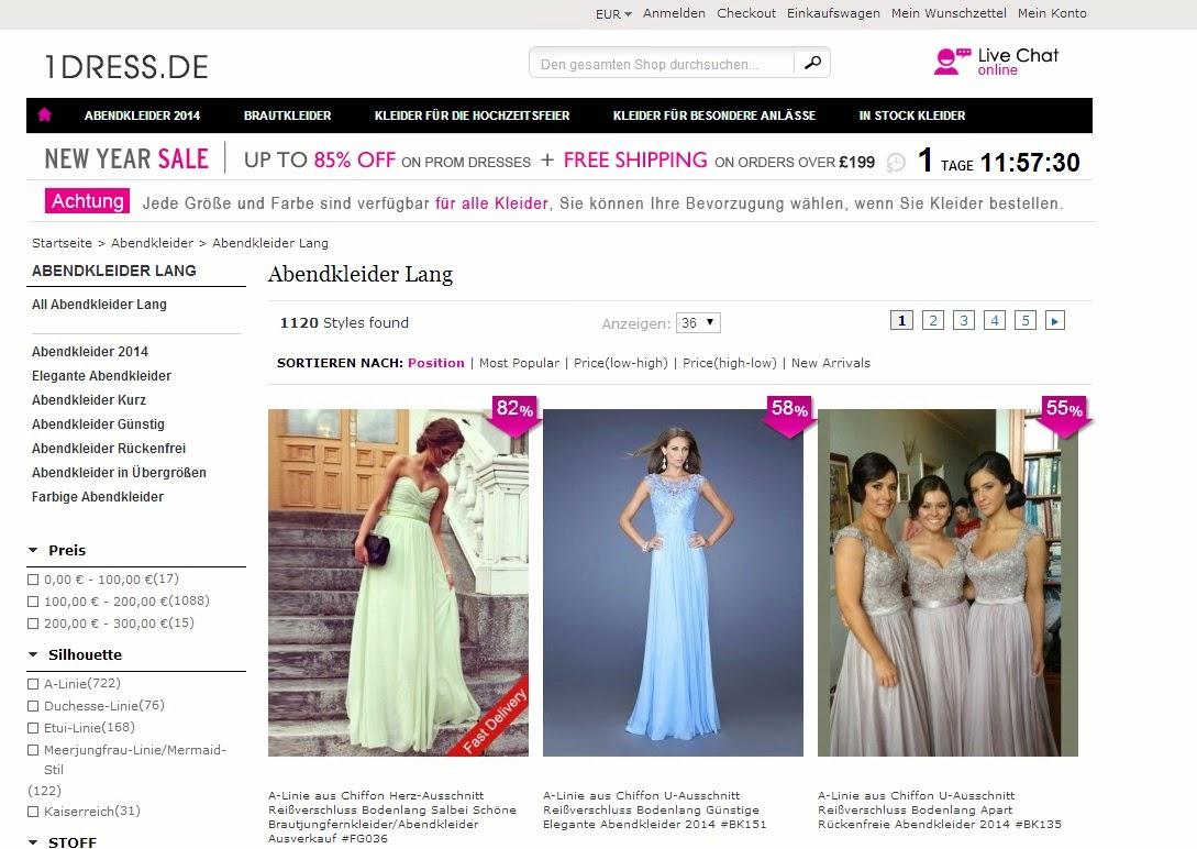 Julys Testblog: 1dress.de - Kleider für besondere Anlässe