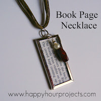 Book Page Necklace on UpcycleFever