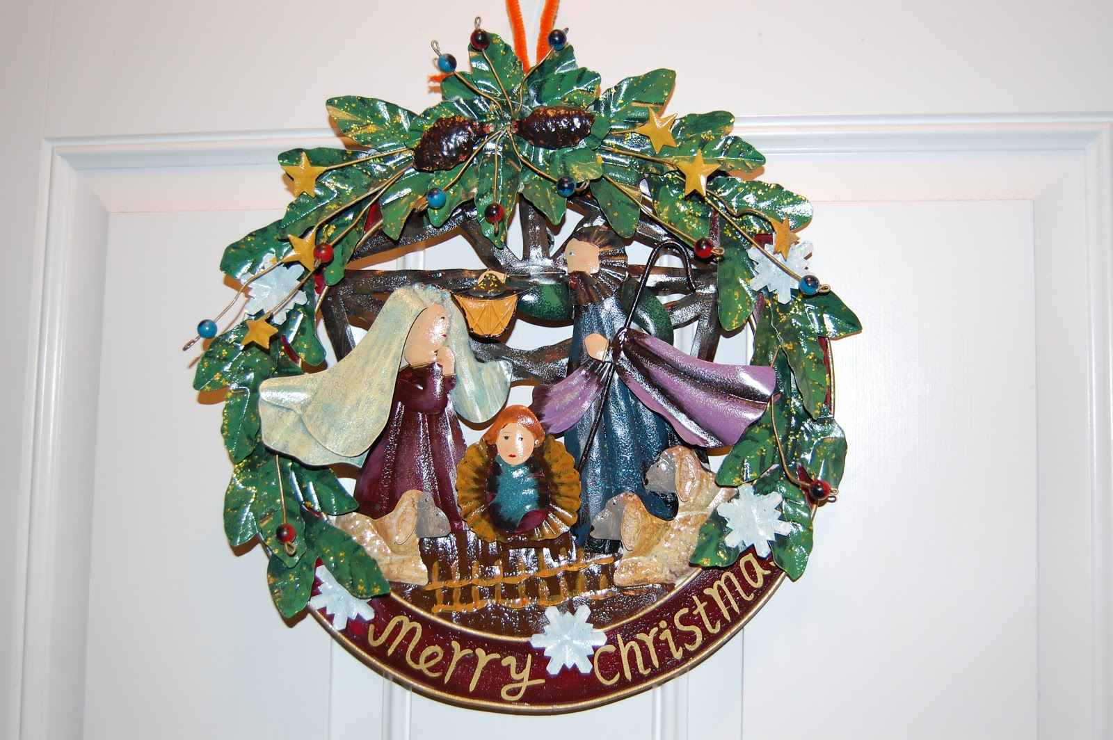 For my door, I love this nativity wreath.