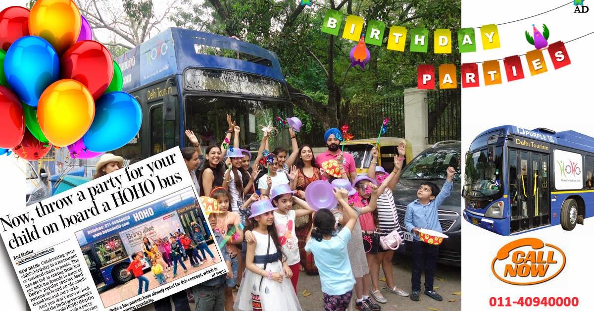Celebrate Birthday in HOHO Bus