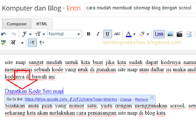 Cara membuat link download di blog