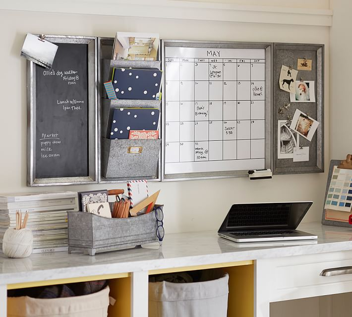 Home Organization Calendar System : Decorated mantel home office ideas for small spaces