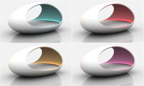 Lomme the Futuristic Bed Colour Theraphy
