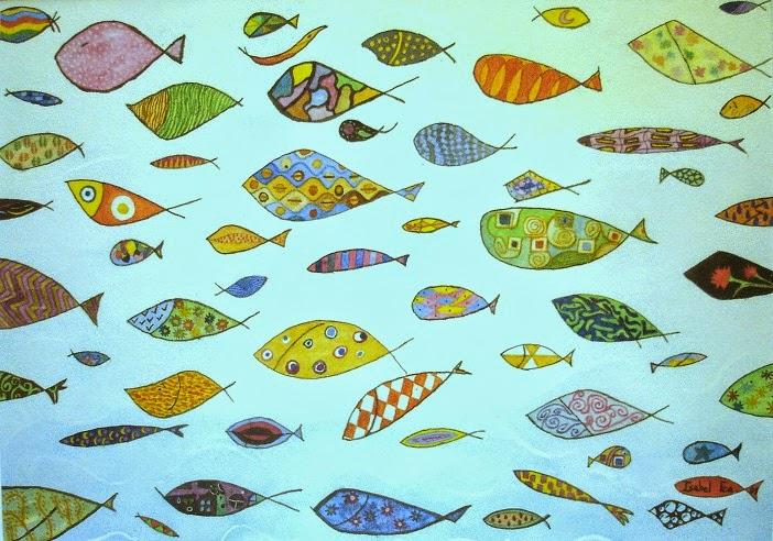 Febrero es as peces de acuarela for Cuadros de peces