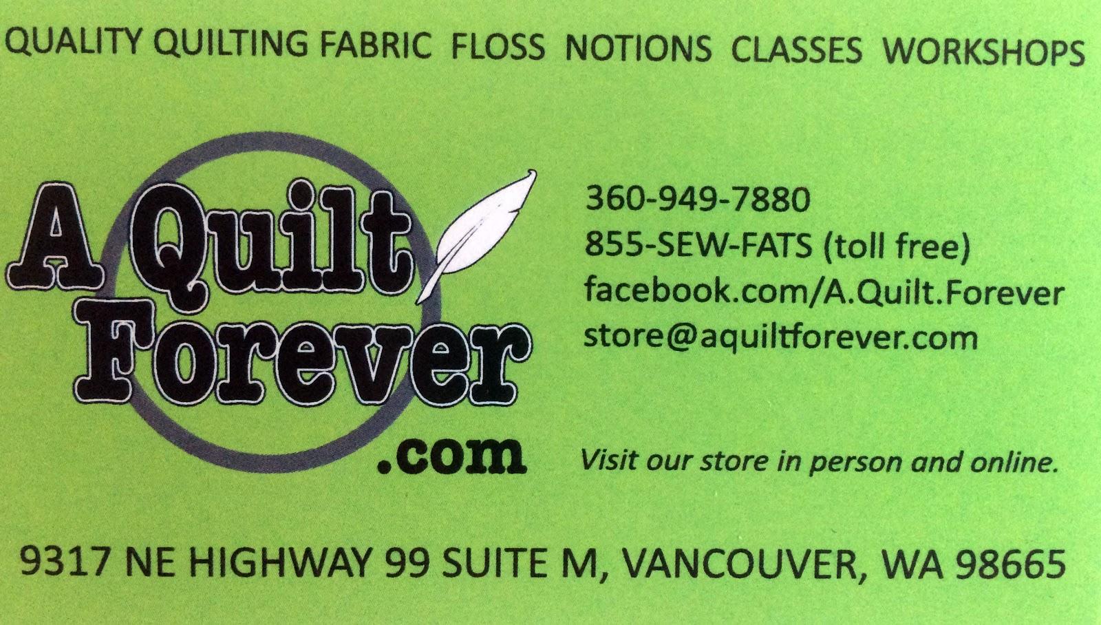 Cat Patches: Quilt Shop: A Quilt Forever, Vancouver, WA : quilt shops in vancouver wa - Adamdwight.com