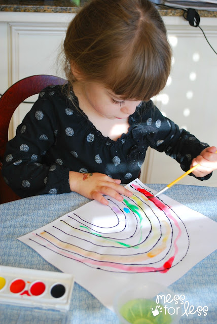 watercolor rainbow activities