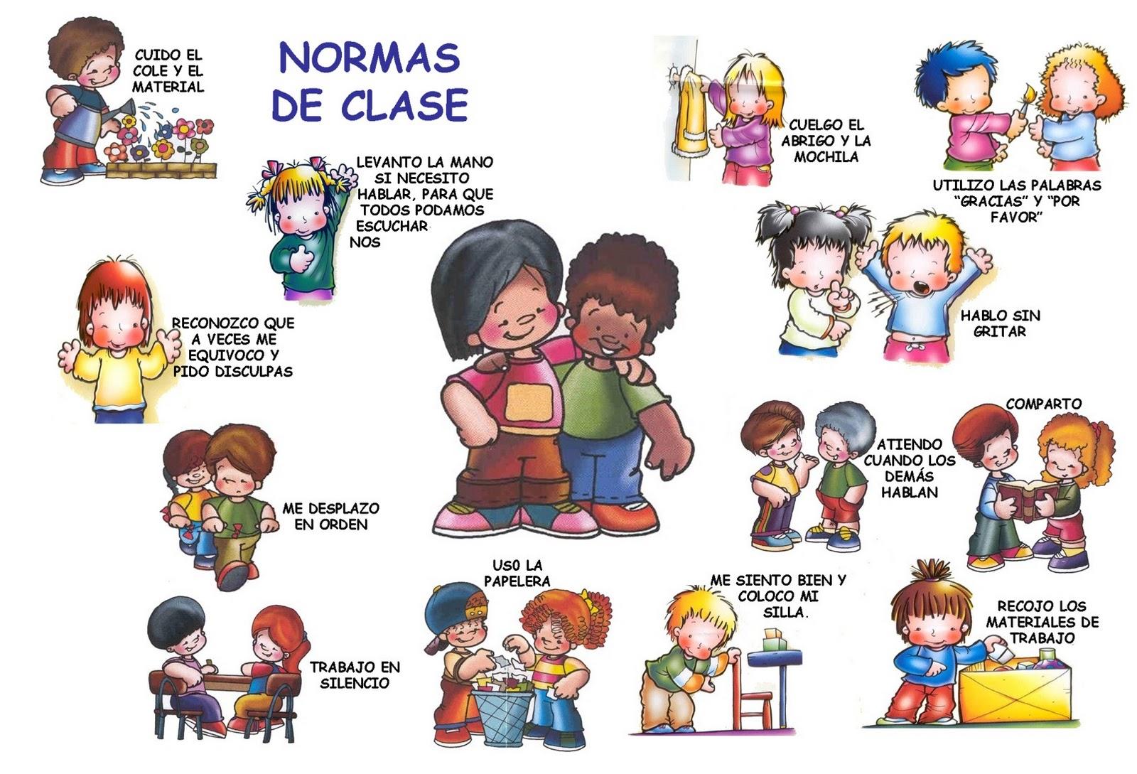 Ilustra una de estas normas y cuentanos en clase porque es importante ...