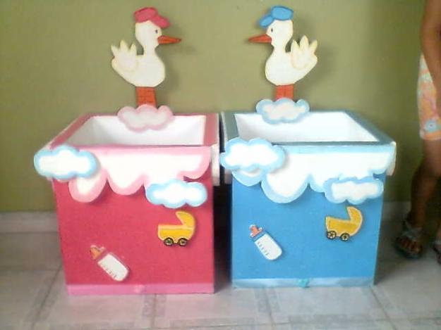 Decoracion de caja para baby shower - Imagui